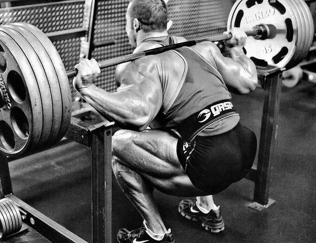 Man doing a heavy squat